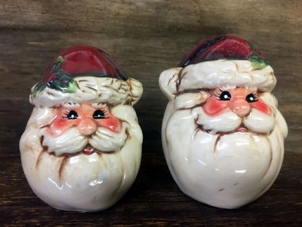 Vintage Father Christmas Ceramic Salt & Pepper Cruet Christmas Gift Set
